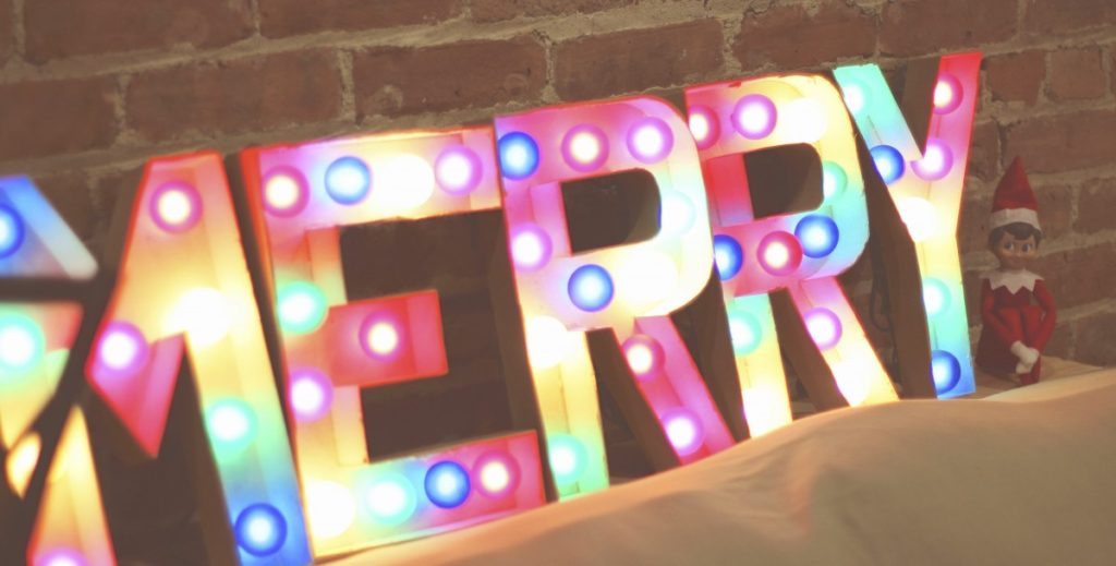 Elf on the Shelf: Be Merry Marquee