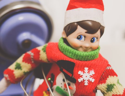 Elf on the Shelf Stuck in the Whisk
